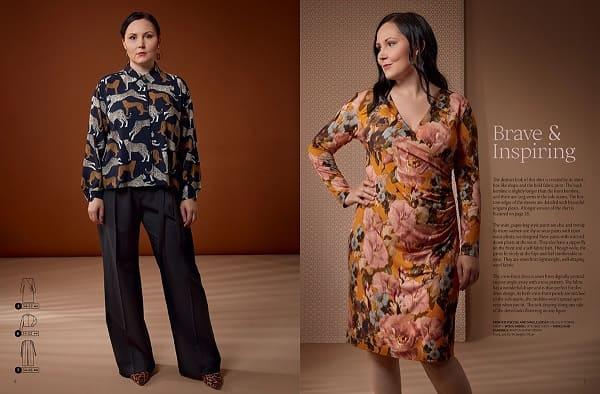 Широкие брюки со стрелками выкройка OTTOBRE design® Woman 5/2019