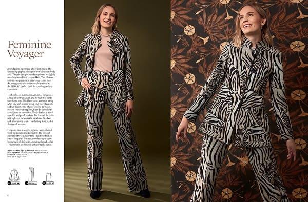 OTTOBRE design® Woman 5/2019 брючный костюм из аномалистичной ткани выкройка