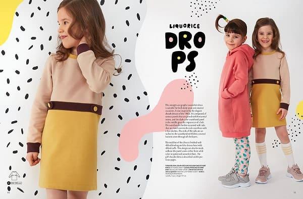 OTTOBRE design® Kids 1/2020 выкройки платья для девочки