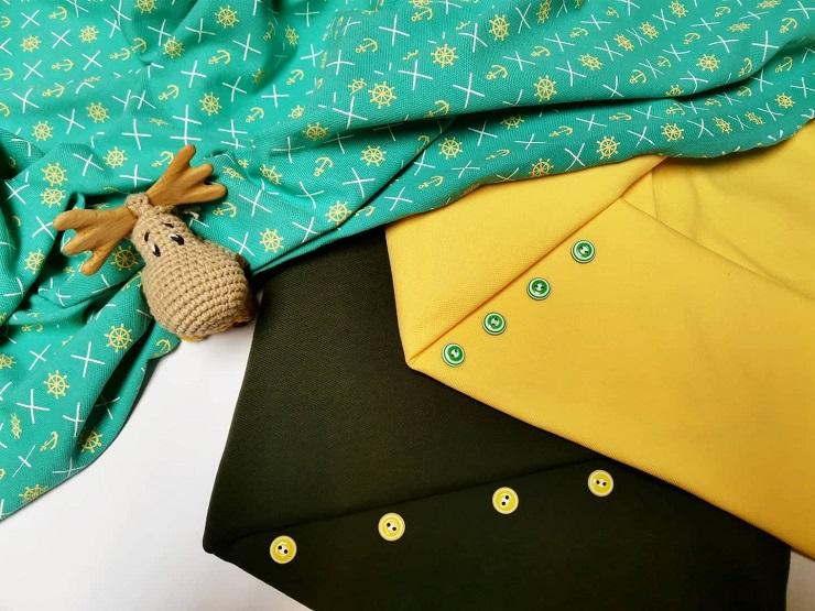 сочетание ткани пике
